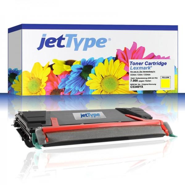 jetType Toner kompatibel zu Lexmark C5340YX gelb 7.000 Seiten 1 Stück