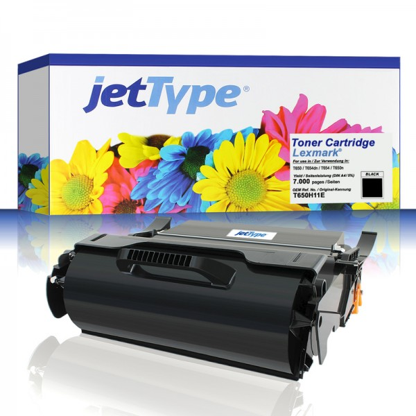jetType Toner kompatibel zu Lexmark T650A11E schwarz 7.000 Seiten 1 Stück