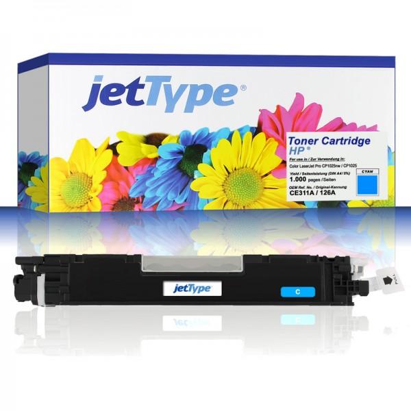 jetType Toner kompatibel zu HP CE311A 126A cyan 1.000 Seiten 1 Stück