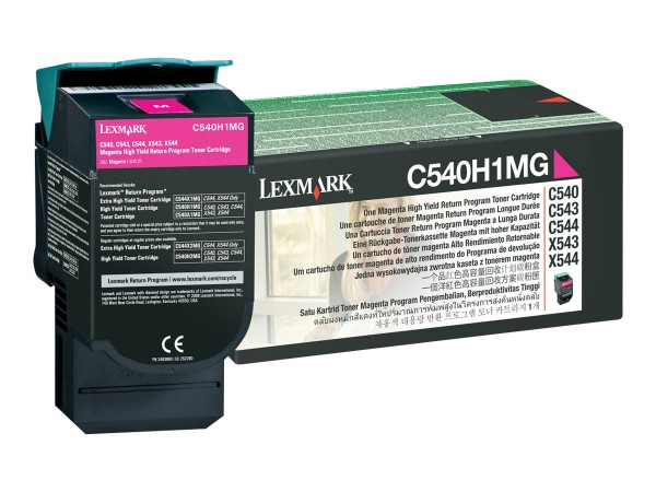 Lexmark Toner C540H1MG magenta 2.000 Seiten Prebate 1 Stück