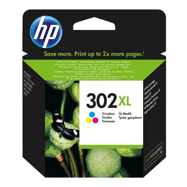 HP Tinte F6U67AE 302XL color 330 Seiten 8 ml Große Füllmenge 1 Stück