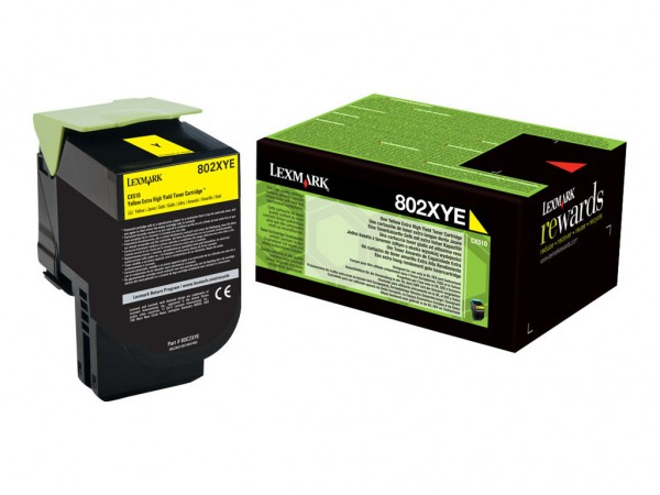 Lexmark Toner 80C2XYE 802XY gelb 4.000 Seiten 1 Stück