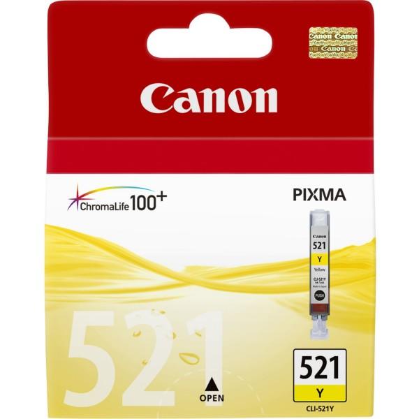 Canon Tinte 2936B001 CLI-521 Y Gelb 477 Seiten 9 ml 1 Stück