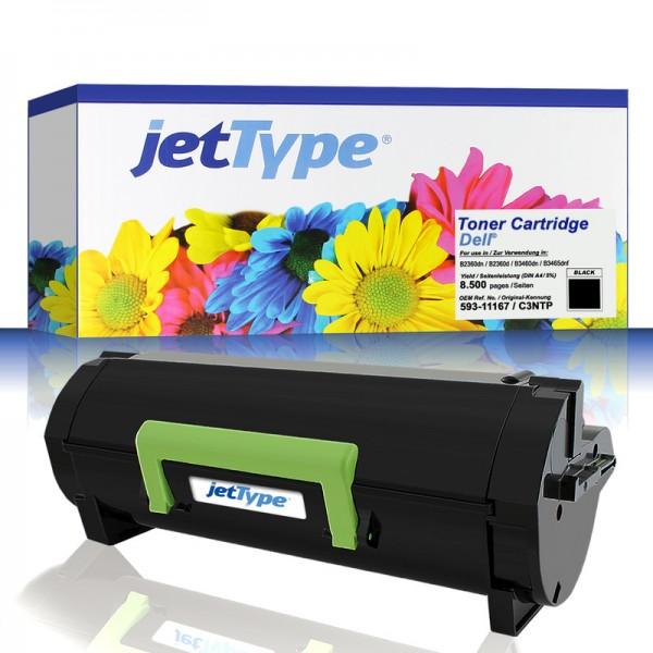 jetType Toner kompatibel zu Dell 593-11167 C3NTP schwarz 8.500 Seiten Große Füllmenge 1 Stück