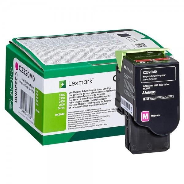 Lexmark Toner C2320M0 Magenta 1.000 Seiten 1 Stück
