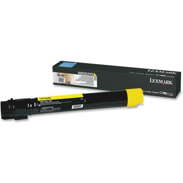 Lexmark Toner X950X2YG gelb 24.000 Seiten 1 Stück