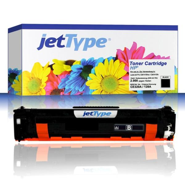 jetType Toner kompatibel zu HP CE320A 128A schwarz 2.000 Seiten 1 Stück