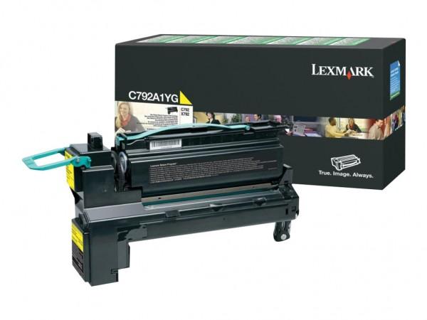 Lexmark Toner C792A1YG gelb 6.000 Seiten 1 Stück