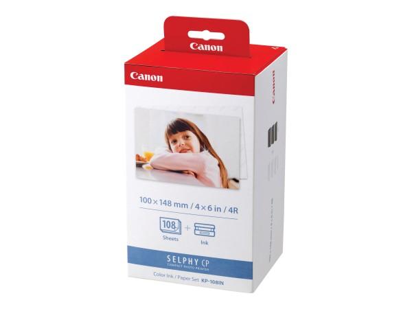Canon Tinte Multipack 3115B001 KP-108 IN C/M/Y 108 Seiten + 3 x 36 Blatt Fotopapier (10 x 15) 3