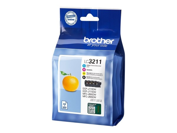 Brother Tinte Multipack LC-3211 VAL DR BK/C/M/Y 4x 200 Seiten 4 Stück