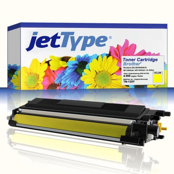 jetType Toner kompatibel zu Brother TN-135Y gelb 4.000 Seiten