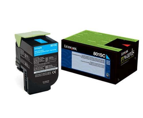 Lexmark Toner 80C2SC0 802SC Cyan 2.000 Seiten 1 Stück