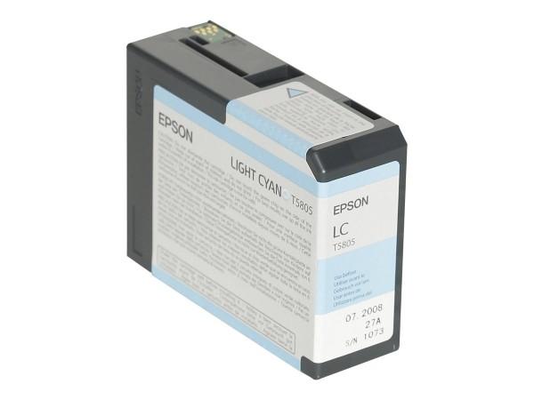 Epson Tinte C13T580500 T5805 Hell Cyan 80 ml 1 Stück