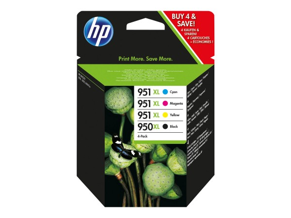 HP Tinte Multipack C2P43AE 950XL/951XL BK/C/M/Y BK = 2.300 Seiten / CMY = je 1.500 Seiten Große