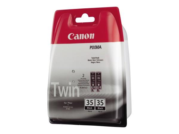 Canon Tinte Doppelpack 1509B012 PGI-35 Schwarz 191 Seiten 9,3 ml 2 Stück
