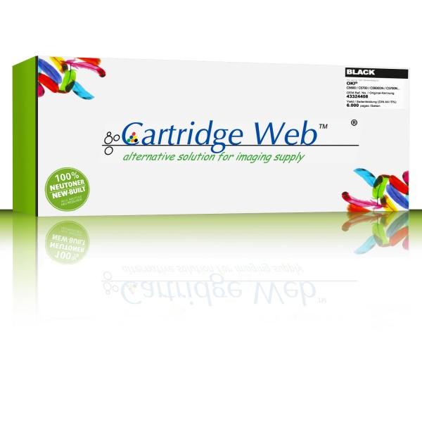 CartridgeWeb Toner kompatibel zu Oki 43324408 schwarz 6.000 Seiten