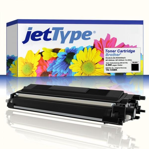 jetType Toner kompatibel zu Brother TN-135BK schwarz 5.000 Seiten 1 Stück