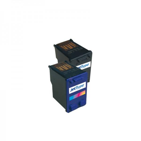 jetType Tinte kompatibel zu HP C8727AE 27 schwarz 350 Seiten 21 ml 1 Stück