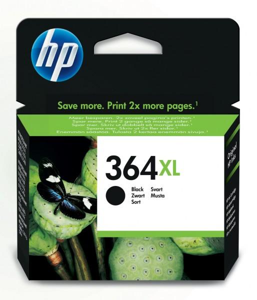 HP Tinte CN684EE 364XL schwarz 550 Seiten 18 ml Große Füllmenge 1 Stück