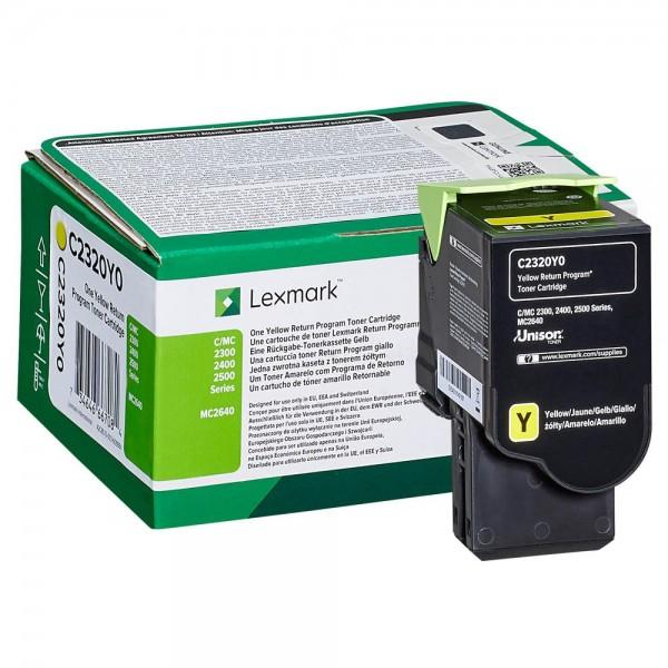 Lexmark Toner C2320Y0 Gelb 1.000 Seiten 1 Stück
