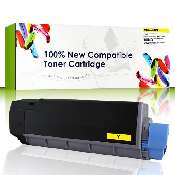 CartridgeWeb Toner kompatibel zu Oki 43872305 gelb 2.000 Seiten