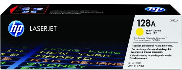 HP Toner CE322A 128A gelb 1.300 Seiten 1 Stück