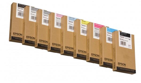 Epson Tinte C13T603900 T6039 Hell Hell Schwarz 220 ml 1 Stück