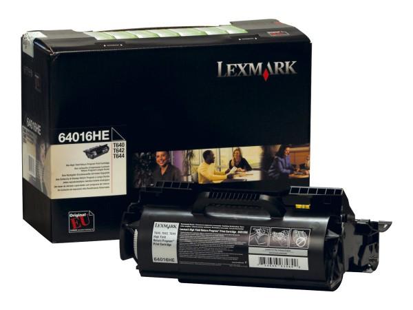 Lexmark Toner 64016HE Schwarz 21.000 Seiten 1 Stück