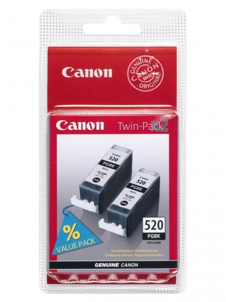 Canon Tinte Doppelpack 2932B012 PGI-520 BK Schwarz 324 Seiten 19 ml pigmentiert 2 Stück