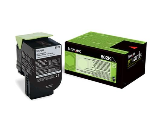 Lexmark Toner 80C20K0 802K Schwarz 1.000 Seiten 1 Stück