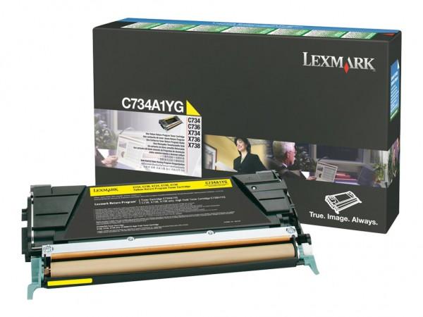 Lexmark Toner C734A1YG gelb 6.000 Seiten 1 Stück