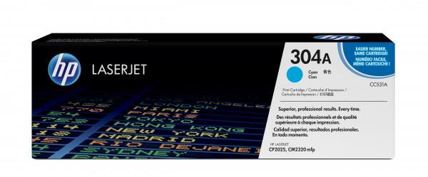 HP Toner CC531A 304A cyan 2.800 Seiten 1 Stück