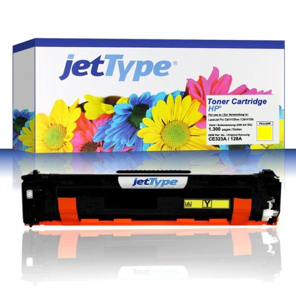 jetType Toner kompatibel zu HP CE322A 128A gelb 1.300 Seiten 1 Stück