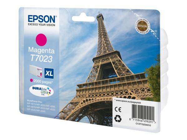 Epson Tinte C13T70234010 T7023 magenta 2.000 Seiten 21,3 ml Größe XL Große Füllmenge 1 Stück