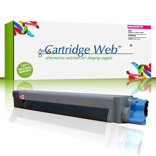 CartridgeWeb Toner kompatibel zu Oki 43324422 magenta 5.000 Seiten