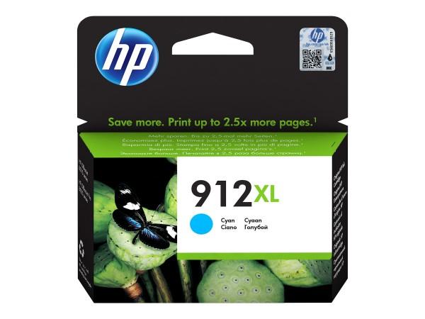 HP Tinte 3YL81AE#BGX 912XL Cyan 825 Seiten 9,9 ml pigmentiert 1 Stück