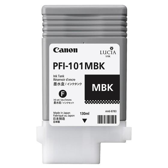 Canon Tinte 0882B001 PFI-101 MBK Mattschwarz 130 ml pigmentiert 1 Stück