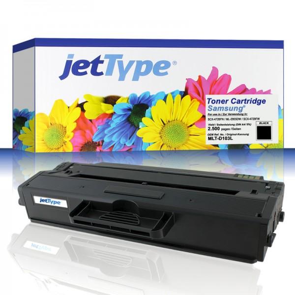 jetType Toner kompatibel zu Samsung MLT-D103L/ELS Schwarz 2.900 Seiten