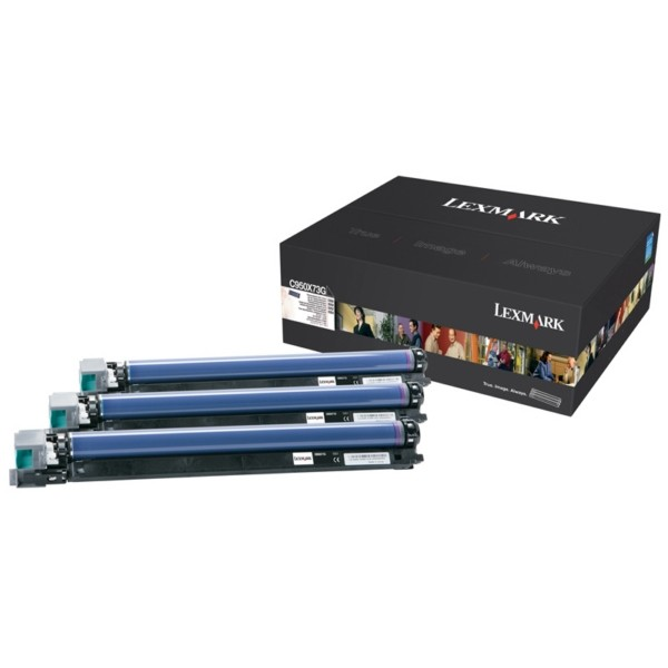 Lexmark Trommel-Kit C950X73G Cyan 115.000 Seiten 3 Stück