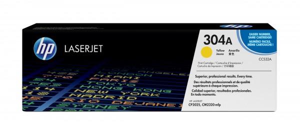 HP Toner CC532A 304A gelb 2.800 Seiten 1 Stück