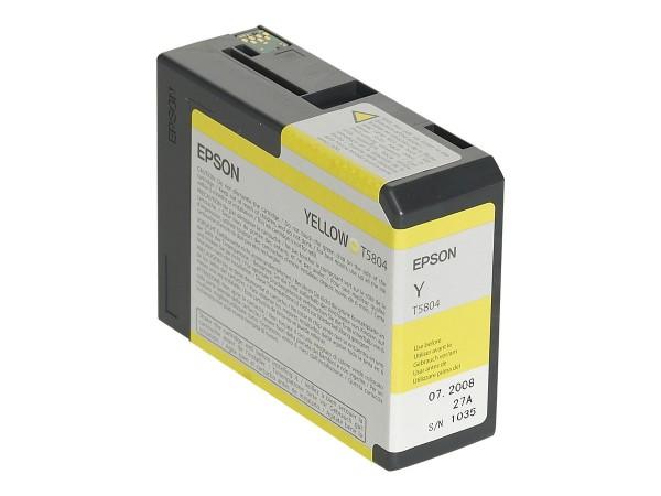Epson Tinte C13T580400 T5804 gelb 80 ml 1 Stück