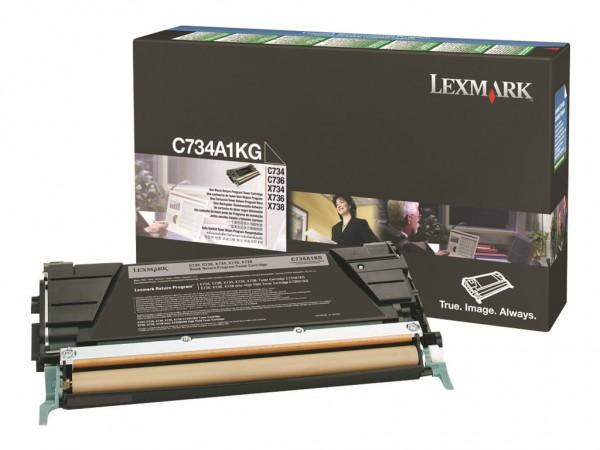 Lexmark Toner C734A1KG schwarz 8.000 Seiten 1 Stück