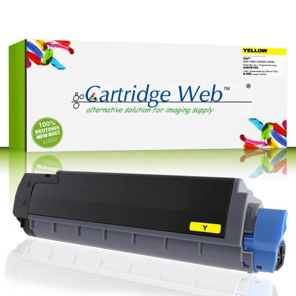 CartridgeWeb Toner kompatibel zu Oki 44059105 gelb 8.000 Seiten