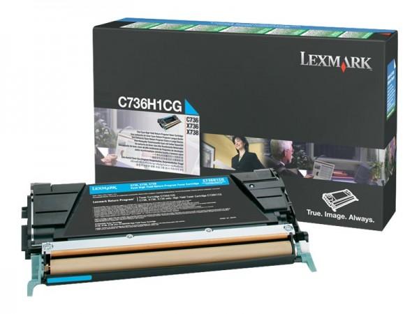 Lexmark Toner C736H1CG cyan 10.000 Seiten 1 Stück