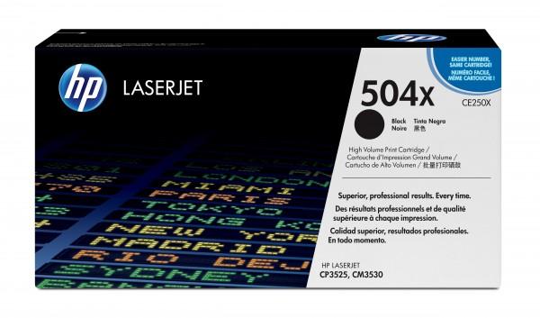HP Toner CE250X 504X schwarz 10.500 Seiten Große Füllmenge 1 Stück