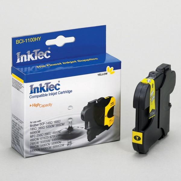 InkTec Tinte kompatibel zu Brother LC1100Y gelb 325 Seiten