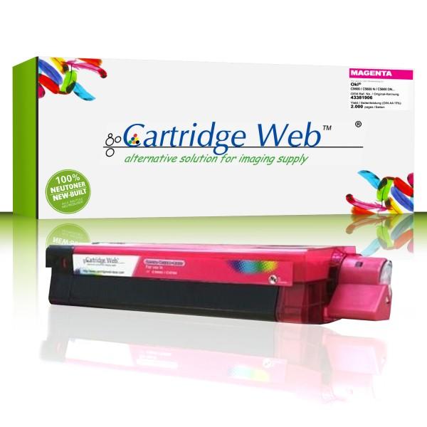 CartridgeWeb Toner kompatibel zu Oki 43381906 magenta 2.000 Seiten