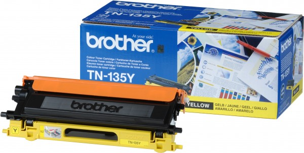 Brother Toner TN-135Y Gelb 4.000 Seiten 1 Stück