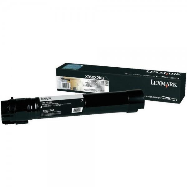 Lexmark Toner X950X2KG schwarz 38.000 Seiten Große Füllmenge 1 Stück