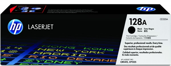 HP Toner CE320A 128A schwarz 2.000 Seiten 1 Stück